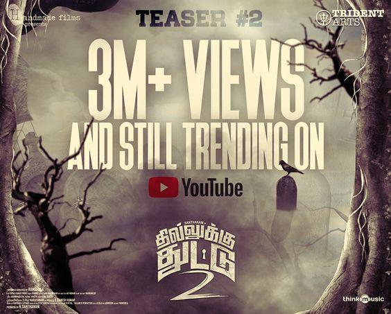 Dhilluku Dhuddu 2 Teaser 3M +Views and Still Trending on Youtube