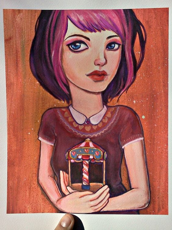 New limited edition Giclee art print: The Empty Carousel by Kat McBride