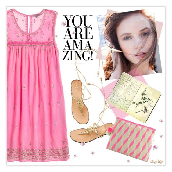 """""""You Are Amazing!"""" by mcheffer ❤ liked on Polyvore featuring Calypso St. Barth, Hollister Co., Moleskine and Sophie Anderson"""