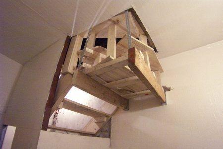 Loft stair kite-wind from below