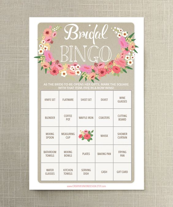 """When it comes to the bridal shower, nothing breaks the ice better than a good game. Keeping it easy on the maid of honor, we found 10 affordable and (mostly) printable games that are sure to be a hit. Take your pick from Mad Libs that offer humorous advice, a guilty game of """"he said, she said,"""" or even a couples cootie catcher for your favorite '90s-loving bride. Whatever you choose to print or play, these games will get the party started and memories flowing — just in time for her big day!"""