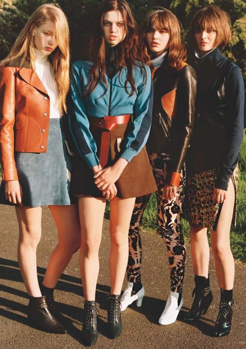 70s style- mini skirts, especially suede & neutral colors