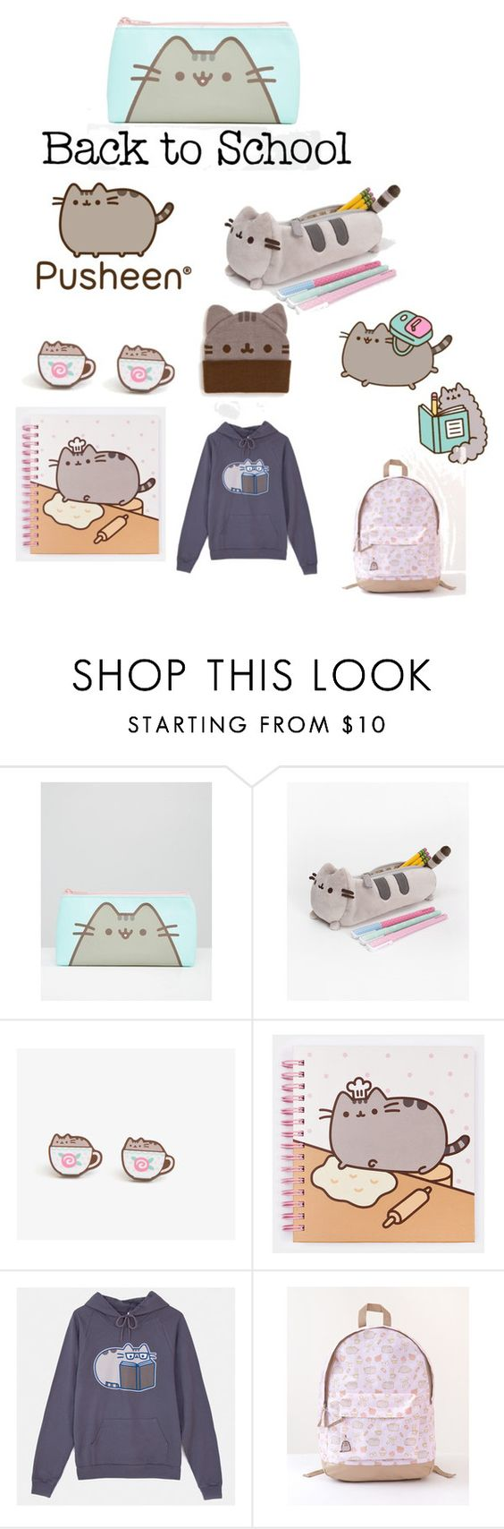 """#PVxPusheen"" by shistyle ❤ liked on Polyvore featuring Pusheen, contestentry and PVxPusheen"