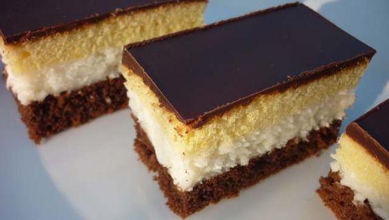 Receptek, és hasznos cikkek oldala: Kétszínű kókuszos sütemény