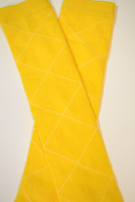 Bright Yellow Baby Girl Leg Warmers by ThisPlaidShirt on Etsy, $7.95