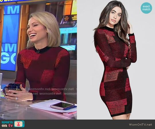 Amy S Red And Black Patchwork Dress On Good Morning America