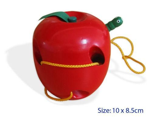 Wooden apple and worm lacing toy $12.95