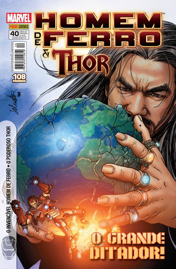 LIGA HQ - COMIC SHOP Homem de Ferro & Thor #40 - Thor - Marvel PARA OS NOSSOS HERÓIS NÃO HÁ DISTÂNCIA!!!