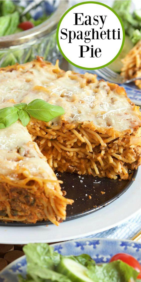 Easy Spaghetti Pie