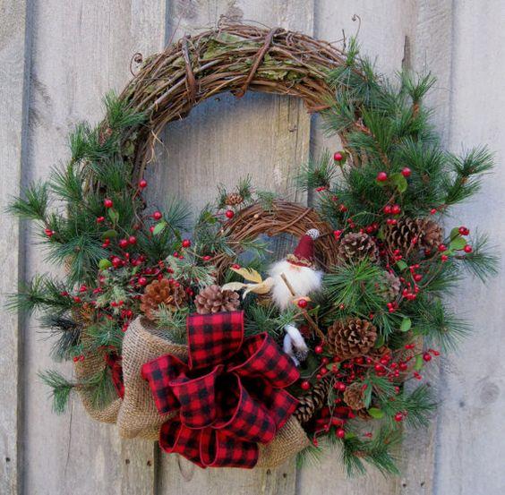 Christmas Wreath Holiday D 233 Cor Woodland Christmas