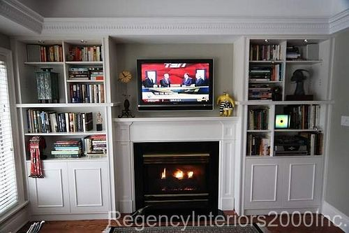 Built in bookcase fireplace surround   Fireplace surrounds ...