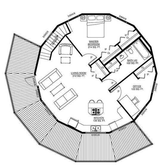Circular 2 Story Floor Plan The Savannah Image 600