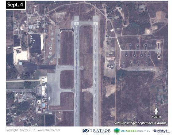 Aufnahme vom 4. September 2015: Auf dem Flughafen Bassel al-Assad im syrischen...