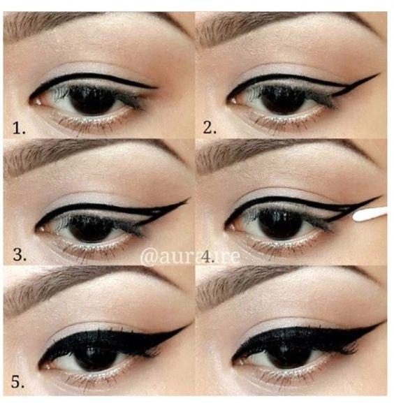 Easy winged eyeliner.