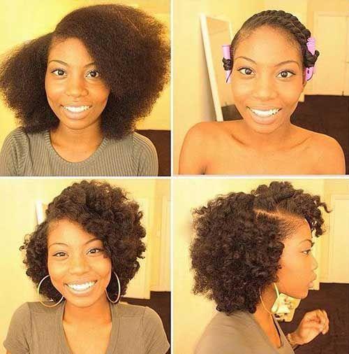 20 estilos de cabello natural para el pelo corto //  #cabello #corto #Estilos #Natural #para #pelo