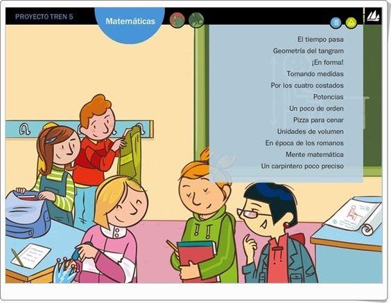 Actividades digitales del área de Matemáticas para 5º nivel de Educación Primaria pertenecientes al Proyecto Tren de Editorial La Galera.