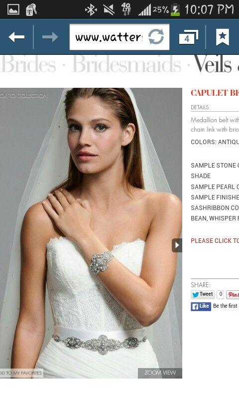 Bride's maids belt option