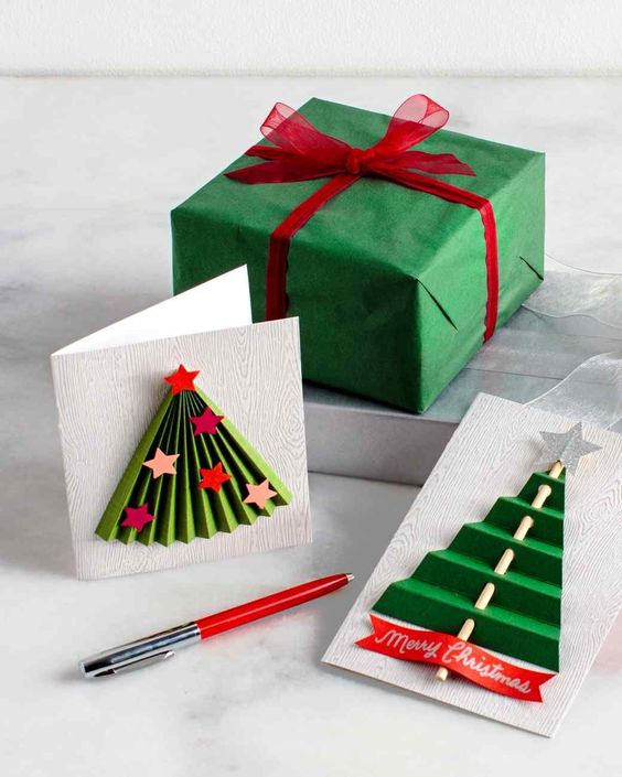 The art of handmade holiday cards is a treasure for the creator and recipient alike. This season, try your hand at one of our many holiday-card craft ideas. Whether the sentiment is embossed, decked in ribbon, or encasing a prized photograph, the extra time will be well worth it when your cards are opened.: