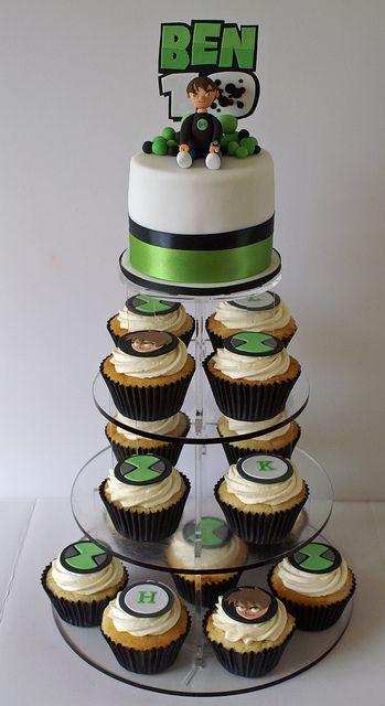 Ben 10 cake   Ben 10 Cupcake Tower   Flickr - Photo Sharing!