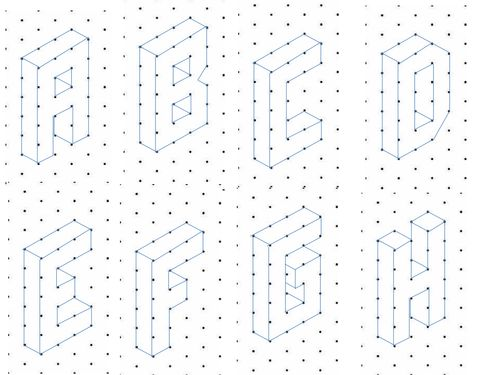 17 Best images about math art on Pinterest The alphabet, Student - isometric dot paper