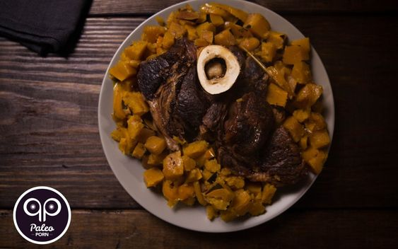 Paleo Recipe Grass-fed Beef Arm Roast with Squash