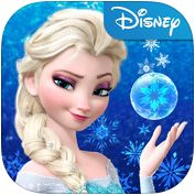 Frozen Free Fall -Slide beautiful, colorful ice crystals to match 3 or more #Disney #iPhone #iPad #Puzzle #App