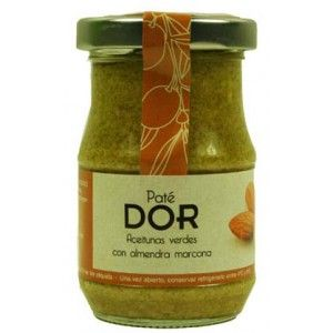 Almond and green olives pate