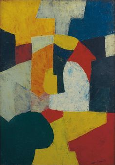 Serge Poliakoff (Russian-French, 1900-1969) - Composition abstraite, 1954