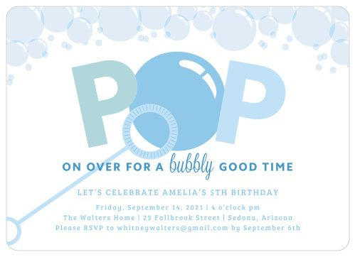 Is It Almost Time To Celebrate Your Child S Special Day Our Bubble Fun Children S In 2020 Kids Invitations Kids Birthday Party Invitations Birthday Party Invitations