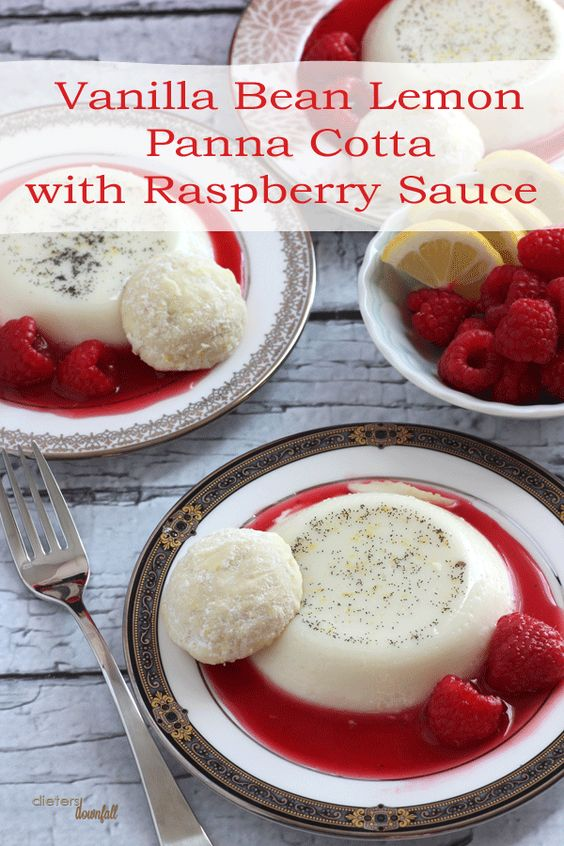 Lemon panna cotta, Panna cotta and Vanilla on Pinterest