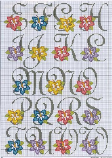 Gallery.ru / Фото #19 - Алфавиты с цветками - mornela