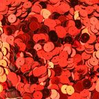 8MM Flat Red Metallic Loose Sequins