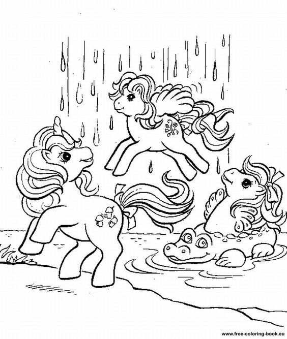 My Little Pony G1 Coloring Pages : Printable coloring pages my little pony and