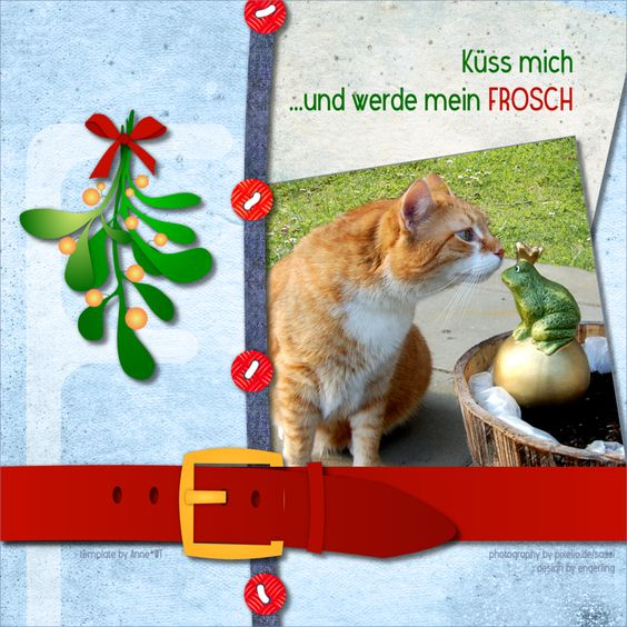 "Küss mich ...und werde mein Frosch / ... kiss me and become my FROG - ""F""-template by wondertalk.de"