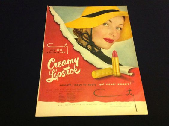 Vintage Coty Lipstick Add Advertisement by Vintagewearsforever, $5.00