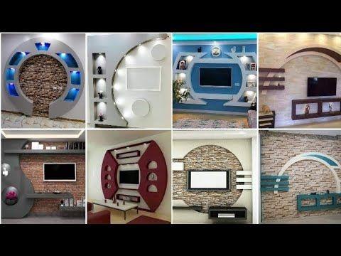احدث ديكورات شاشات جبس مودرن 2020 تشطيب ديكورات مكاتب جبس دهانات وديكورات حديثه 2020 Youtube Tv Wall Design Kitchen Ceiling Design Tv Wall Decor