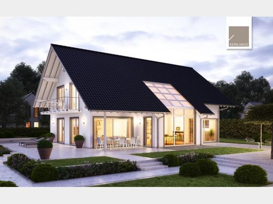 Modernes luxus architektenhaus von kern haus ag hausxxl - Modernes einfamilienhaus satteldach ...