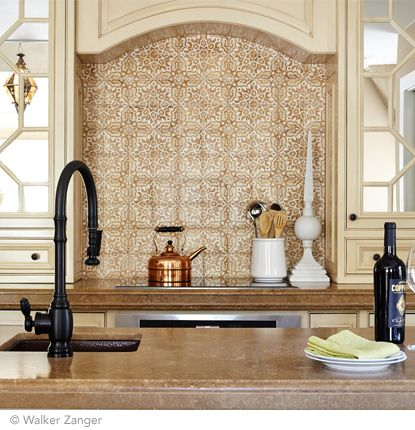 Decorative Wall Tiles Kitchen Backsplash Duquesa Fatima Decorative Field In Ambra For A Backsplash Or
