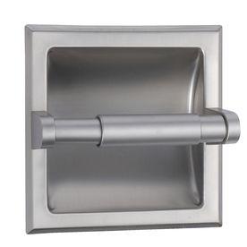 Style selections seton brushed nickel recessed toilet paper holder lowes bathroom - Recessed brushed nickel toilet paper holder ...