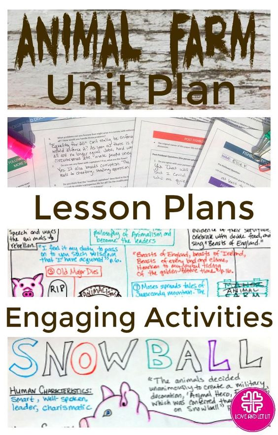 Animal Farm Unit Plan With Four Week Of Lesson Activitie And Essay Writing Teaching School George Orwell On