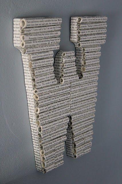 Buchstaben aus Papierröllchen