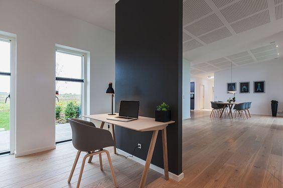 Smart måde at skabe et kontor der er integreret i stuen ...