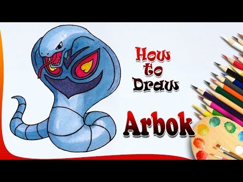 How To Draw Arbok Pokemon Easy Drawing For Kids Drawing For