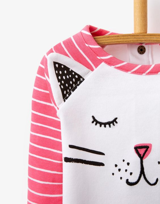 Neon Candy Stripe Babycatrin Jersey Top | Joules UK