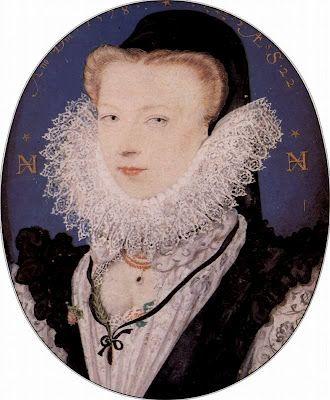 Circa 1578, Alice Brandon, (1556-1608) wife of artist Nicholas Hilliard, (1547-1618) who painted this miniature.
