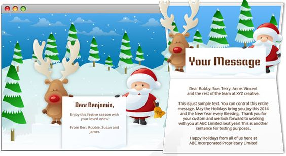wwwekarda corporate-christmas-ecard animated-webpage - sample happy birthday email
