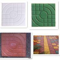 Square Garden Path hormigón plástico ladrillo moho pavimentación pavimento pasarela 27 x 27 x 4 cm jardín edificios accesorios