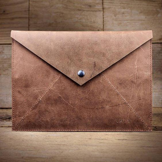 werktat Umschlag aus Leder, braun Stückwerk L WT1015, Etui, Clutch #Leder…