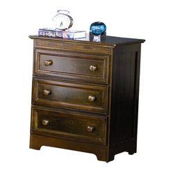 Atlantic Furniture - Atlantic Furniture Manhattan 3 Drawer Nightstand in Antique Walnut - Atlantic Furniture - Nightstands - C71304 - The Ma...