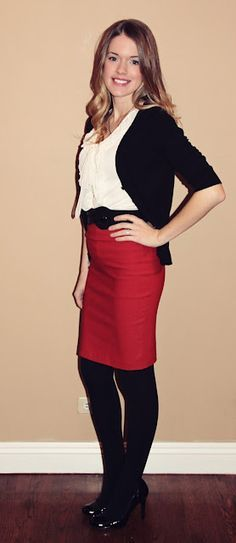 Black pencil skirt with red heels – The most popular models skirts